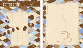 πρότυπο καταστημάτων σχεδίου καφέ Στοκ Εικόνες