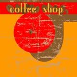 πρότυπο καταστημάτων σχεδίου καφέ ελεύθερη απεικόνιση δικαιώματος