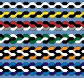 Πρότυπο κοτσίδων χρώματος Στοκ φωτογραφίες με δικαίωμα ελεύθερης χρήσης