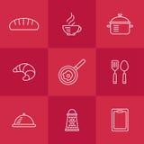 πρότυπο κουζινών άνευ ραφή&si Στοκ Φωτογραφία
