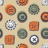 πρότυπο κουμπιών άνευ ραφής Στοκ Φωτογραφίες