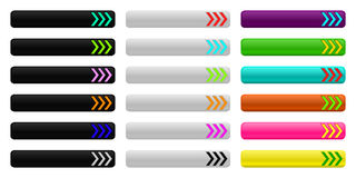 Πρότυπο κουμπιών Ιστού τριπλός-βελών Στοκ φωτογραφία με δικαίωμα ελεύθερης χρήσης