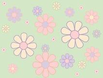 πρότυπο κρητιδογραφιών λουλουδιών άνευ ραφής Στοκ φωτογραφίες με δικαίωμα ελεύθερης χρήσης