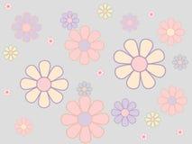 πρότυπο κρητιδογραφιών λουλουδιών άνευ ραφής Στοκ Εικόνες