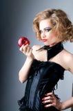 πρότυπο κόκκινο μήλων Στοκ φωτογραφία με δικαίωμα ελεύθερης χρήσης