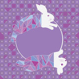 Πρότυπο κύκλων διαμαντιών μόδας άλματος κουνελιών Στοκ φωτογραφία με δικαίωμα ελεύθερης χρήσης