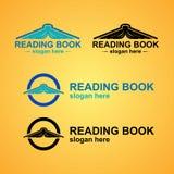 Πρότυπο λογότυπων βιβλίων ανάγνωσης Στοκ Εικόνα