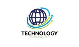 Πρότυπο λογότυπων παγκόσμιας τεχνολογίας Στοκ φωτογραφία με δικαίωμα ελεύθερης χρήσης