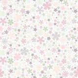 πρότυπο λουλουδιών άνευ ραφής Επίπεδα λουλούδια των χρωμάτων κρητιδογραφιών στο άσπρο υπόβαθρο Στοκ φωτογραφία με δικαίωμα ελεύθερης χρήσης