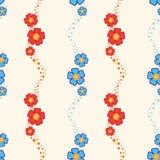 πρότυπο λουλουδιών άνε&upsilo Στοκ Εικόνες