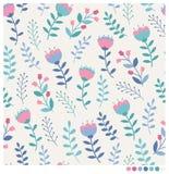 πρότυπο λουλουδιών ανα&si Στοκ Εικόνες