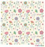 πρότυπο λουλουδιών ανα&si Στοκ Εικόνα