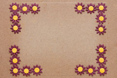 Πρότυπο λουλουδιών εγγράφου Στοκ φωτογραφία με δικαίωμα ελεύθερης χρήσης