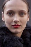 Πρότυπο μάτι πορτρέτου ομορφιάς Karmen Pedaru μόδας makeup στοκ εικόνες