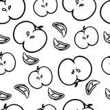 πρότυπο μήλων άνευ ραφής επίσης corel σύρετε το διάνυσμα απεικόνισης Στοκ Φωτογραφία