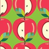 πρότυπο μήλων άνευ ραφής Στοκ εικόνες με δικαίωμα ελεύθερης χρήσης