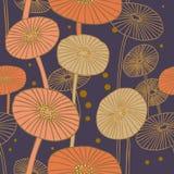 πρότυπο μανιταριών άνευ ραφής Διανυσματική απεικόνιση