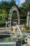Πρότυπο ματιών του Λονδίνου σε Legoland Windsor miniland Στοκ εικόνα με δικαίωμα ελεύθερης χρήσης