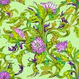 Πρότυπο με τα λουλούδια Στοκ Εικόνα