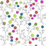 Πρότυπο με τα λουλούδια Στοκ εικόνες με δικαίωμα ελεύθερης χρήσης