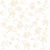 Πρότυπο με τα λουλούδια Στοκ εικόνα με δικαίωμα ελεύθερης χρήσης