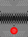 Πρότυπο με την οπτική παραίσθηση Γραπτό σχέδιο abstract background striped επίσης corel σύρετε το διάνυσμα απεικόνισης απεικόνιση αποθεμάτων