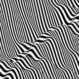 Πρότυπο με την οπτική παραίσθηση Γραπτό σχέδιο abstract background striped απεικόνιση αποθεμάτων