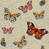 Πρότυπο με τις πεταλούδες διανυσματική απεικόνιση