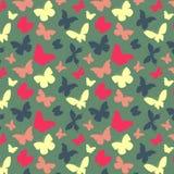Πρότυπο με τις πεταλούδες Στοκ εικόνα με δικαίωμα ελεύθερης χρήσης