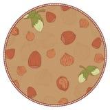 Πρότυπο με το φουντούκι σε μια μορφή κύκλων Απεικόνιση αποθεμάτων