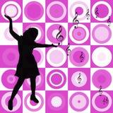 πρότυπο μουσικής ανασκόπησης Στοκ εικόνα με δικαίωμα ελεύθερης χρήσης