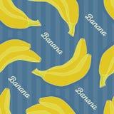 πρότυπο μπανανών άνευ ραφής Στοκ Εικόνες