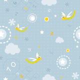 πρότυπο μωρών άνευ ραφής Στοκ φωτογραφία με δικαίωμα ελεύθερης χρήσης