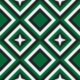 Πρότυπο μόδας με τα τετράγωνα και τα αστέρια Στοκ Εικόνες