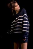 Πρότυπο μόδας που απομονώνεται στο Μαύρο Στοκ φωτογραφίες με δικαίωμα ελεύθερης χρήσης