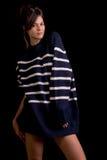 Πρότυπο μόδας που απομονώνεται στο Μαύρο Στοκ Εικόνες