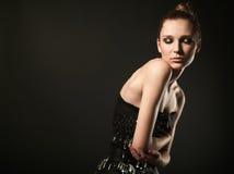 Πρότυπο μόδας στο φόρεμα καρφιτσών Στοκ φωτογραφίες με δικαίωμα ελεύθερης χρήσης