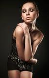 Πρότυπο μόδας στο φόρεμα καρφιτσών Στοκ Φωτογραφίες
