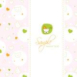 πρότυπο ντους καρτών μωρών Στοκ Εικόνες