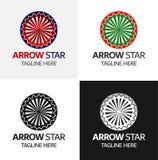 Πρότυπο λογότυπων αστεριών βελών Στοκ Εικόνες