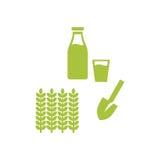 Πρότυπο λογότυπων γεωργίας Απεικόνιση αποθεμάτων