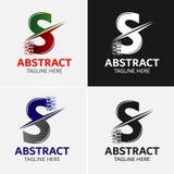 Πρότυπο λογότυπων γραμμάτων S Στοκ Εικόνες