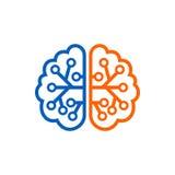 Πρότυπο λογότυπων εγκεφάλου Ελεύθερη απεικόνιση δικαιώματος