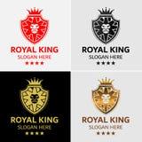 Πρότυπο λογότυπων λιονταριών Στοκ εικόνες με δικαίωμα ελεύθερης χρήσης