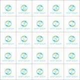 Πρότυπο λογότυπων καθορισμένο - γράμματα της αλφαβήτου διανυσματικό σχέδιο για την επιχείρηση ή την τεχνολογία Στοκ Εικόνες