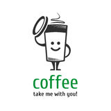 Πρότυπο λογότυπων καφέ Στοκ εικόνα με δικαίωμα ελεύθερης χρήσης