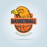 Πρότυπο λογότυπων καλαθοσφαίρισης Στοκ Εικόνες
