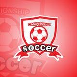 Πρότυπο λογότυπων ποδοσφαίρου Στοκ εικόνες με δικαίωμα ελεύθερης χρήσης
