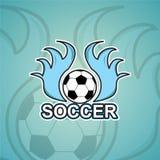 Πρότυπο λογότυπων ποδοσφαίρου Στοκ φωτογραφία με δικαίωμα ελεύθερης χρήσης