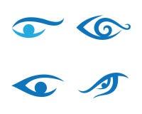 Πρότυπο λογότυπων προσοχής ματιών Στοκ εικόνες με δικαίωμα ελεύθερης χρήσης